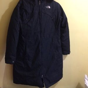 Authentic north face goose down mid length coat